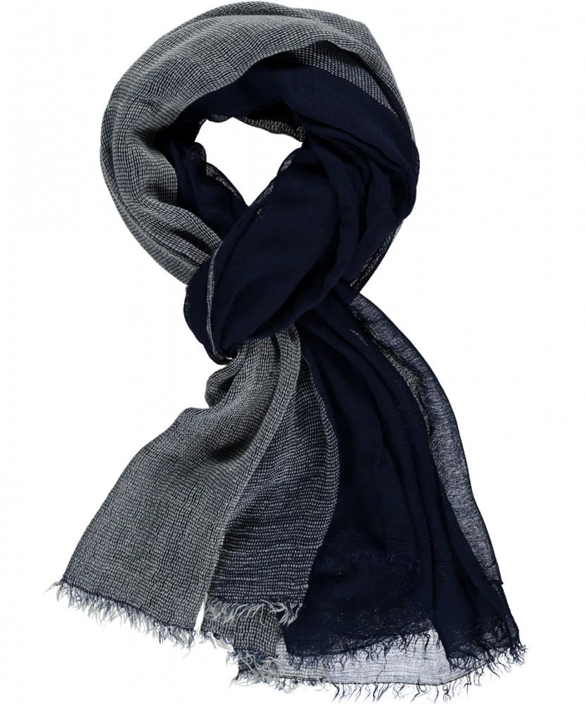 Schal Blau-Melange-171 | ---