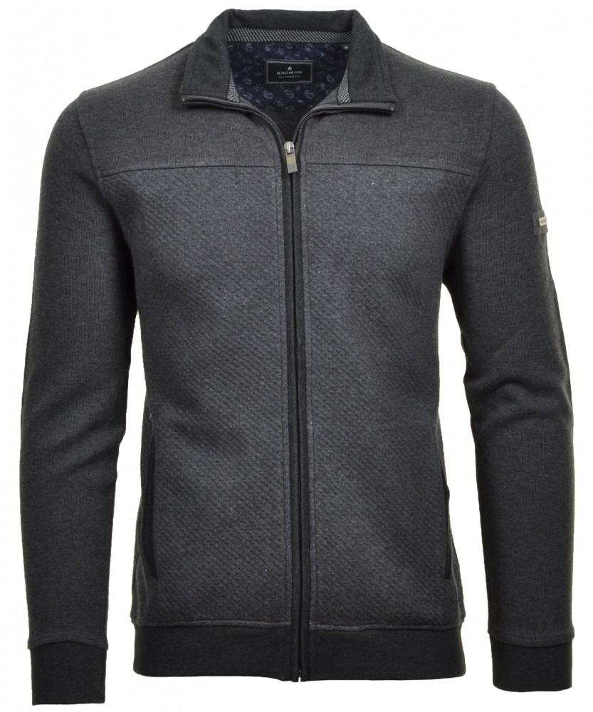 Sweatshirt Jacke Anthrazit-019 | XXL