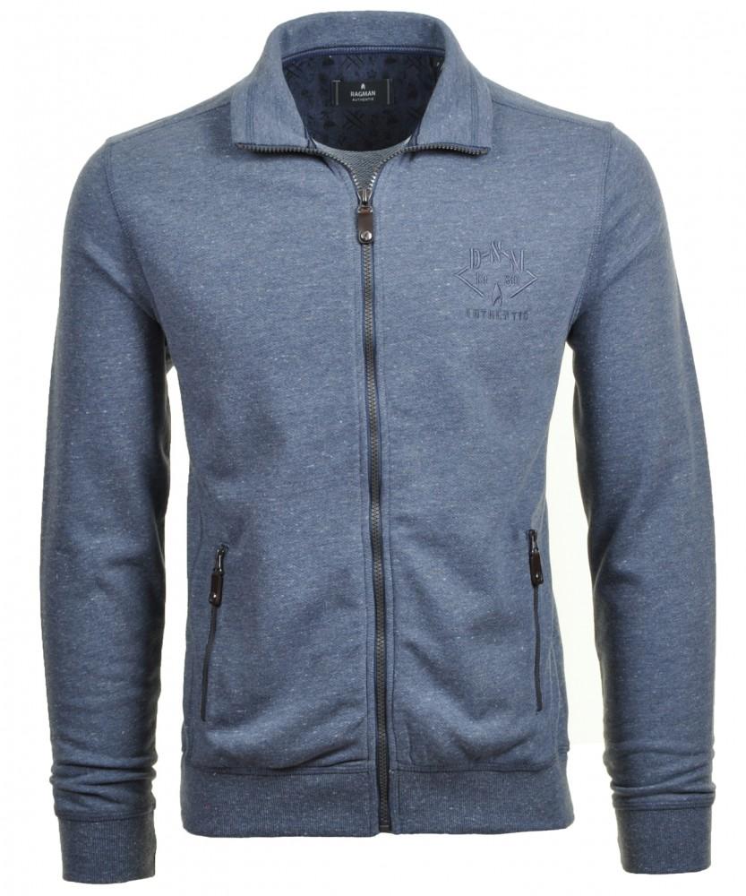 RAGMAN Sweatshirt Jacke Mitternachtsblau-786   XXL