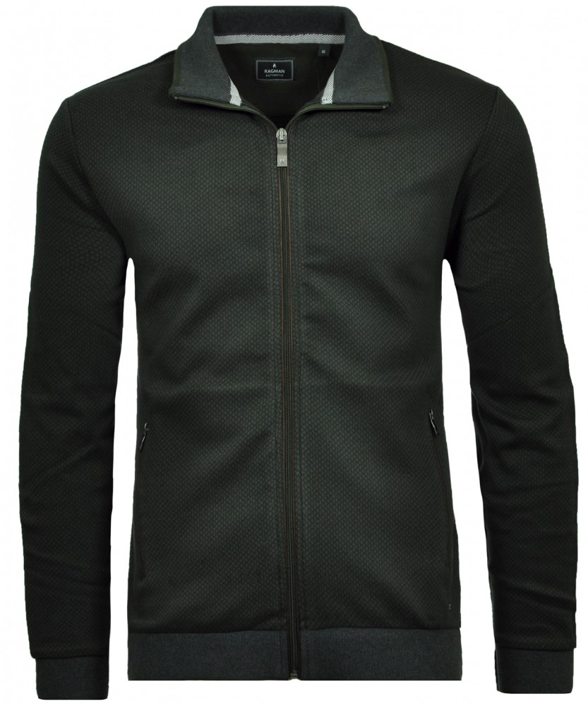 Sweat-Jacket with stand up collar Loden-300 | L