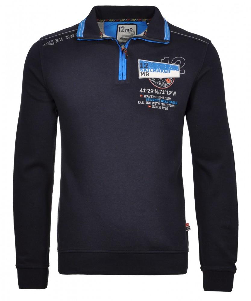 RAGMAN Sweatshirt mit Stehkragen Dunkelblau-711 | S