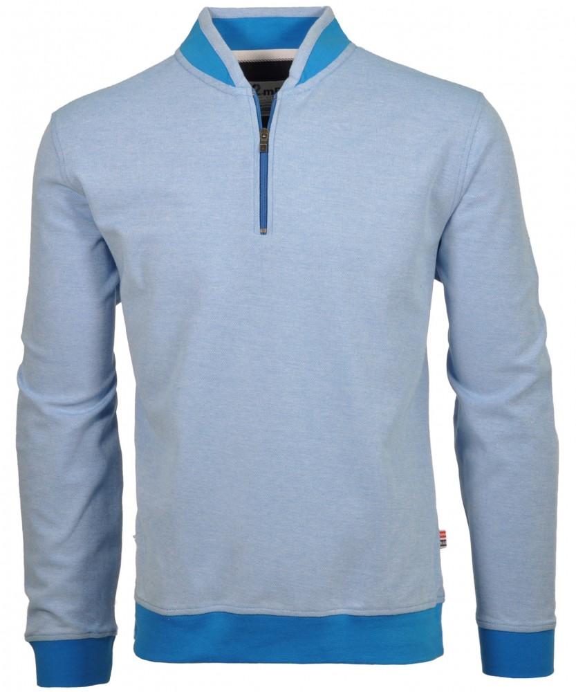 RAGMAN Piqué-Sweater Blaugrau-074 | M