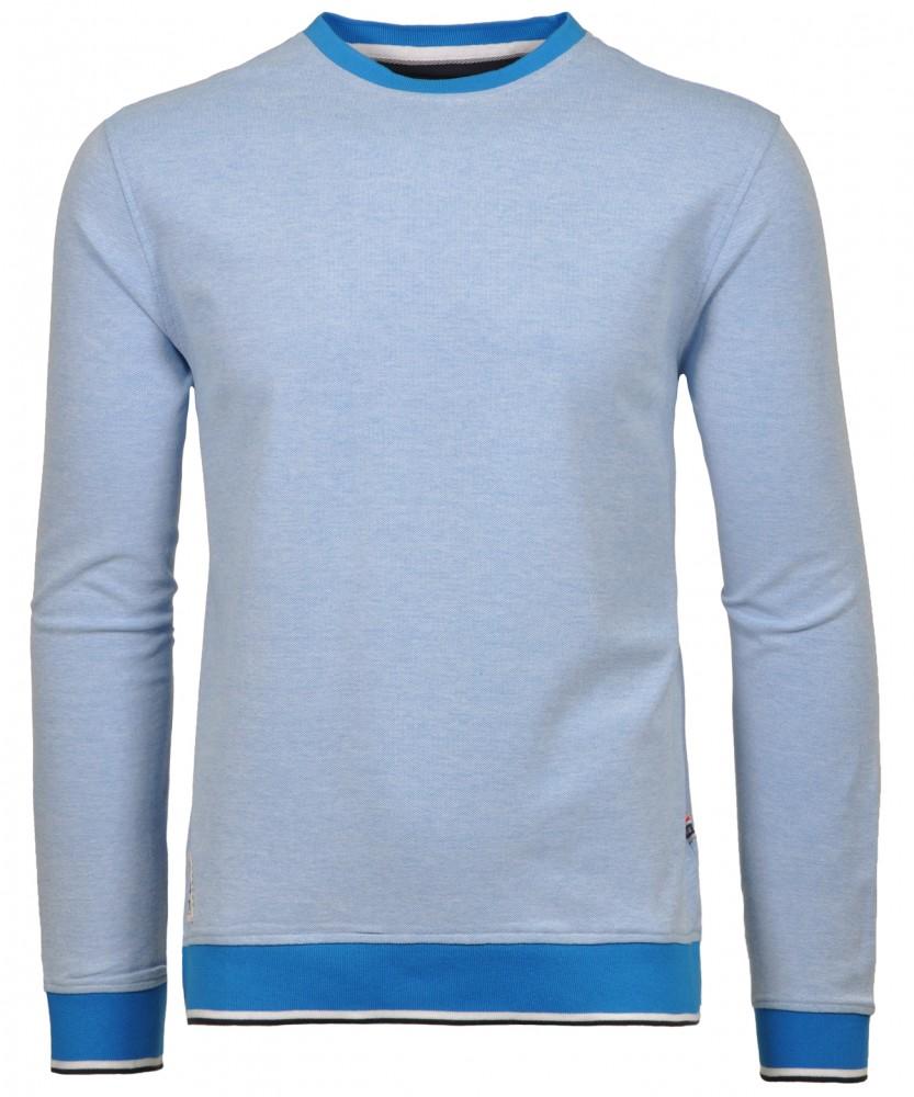 RAGMAN Piqué-Sweater Rundhals Blaugrau-074 | L