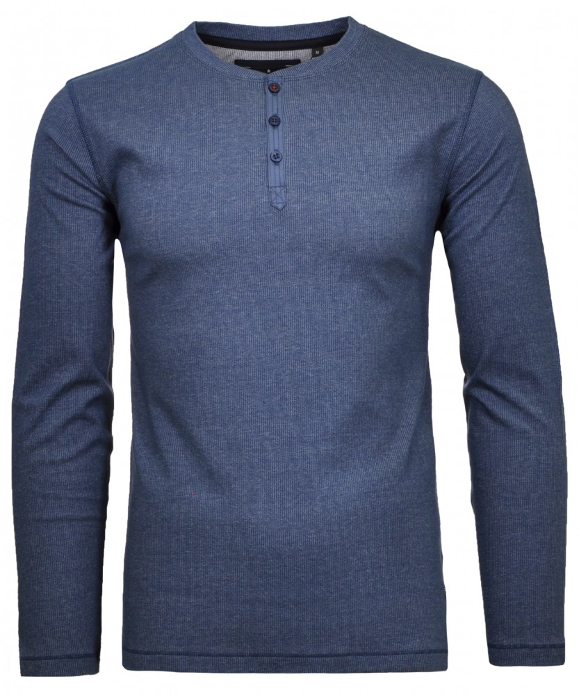 Shirt Serafino rip langarm Mitternachtsblau-786 | L