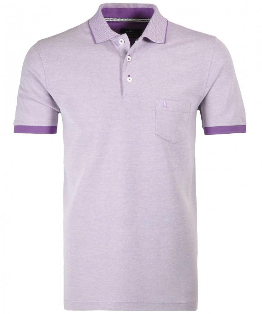 Poloshirt mit Brusttasche Pflaume-425 | S