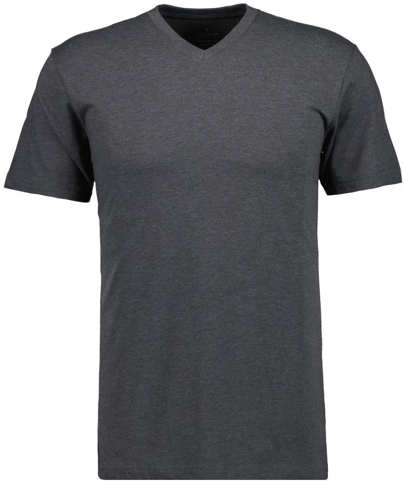 RAGMAN T-Shirt V-Ausschnitt Single-Pack Anthrazit-019   S