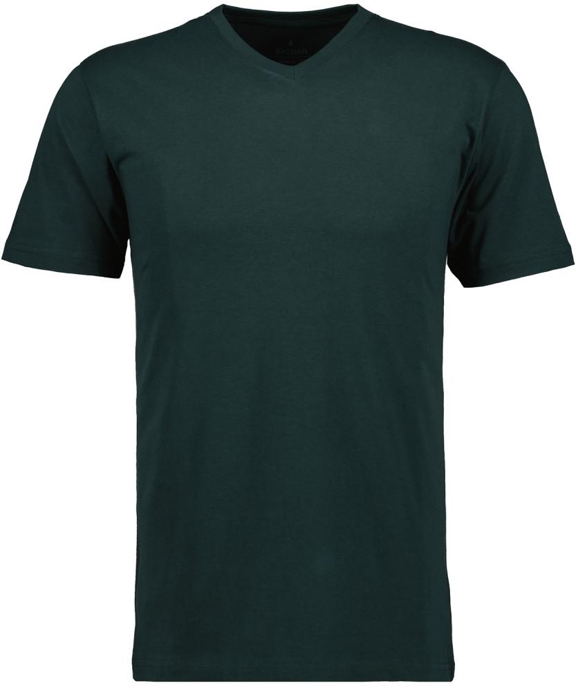 RAGMAN T-Shirt V-Ausschnitt Single-Pack Dunkelgrün-386 | S