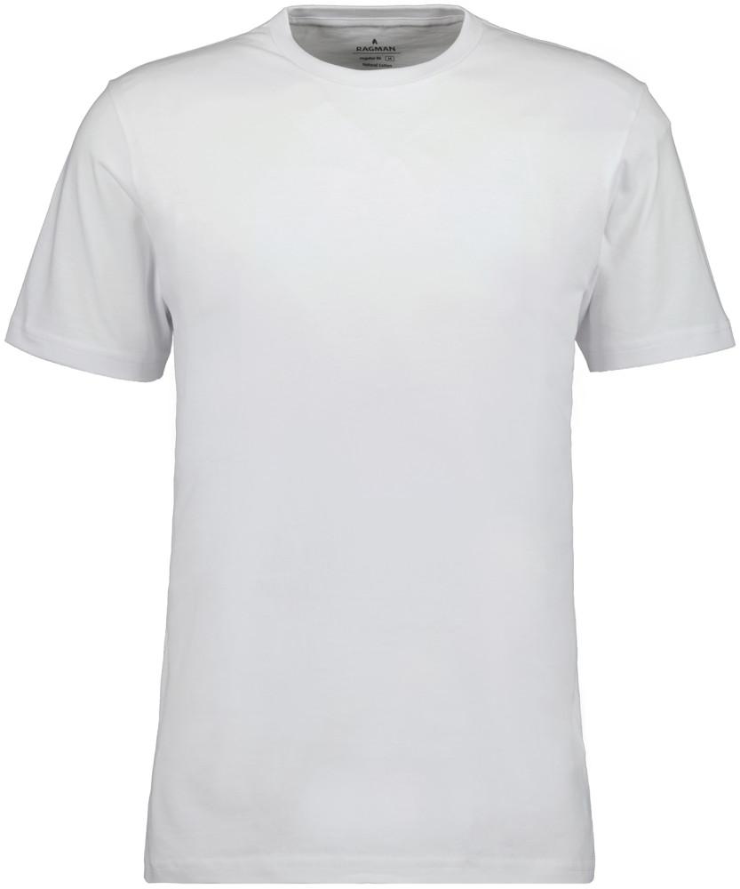 RAGMAN T-Shirt Rundhals Singlepack Weiss-006 | S