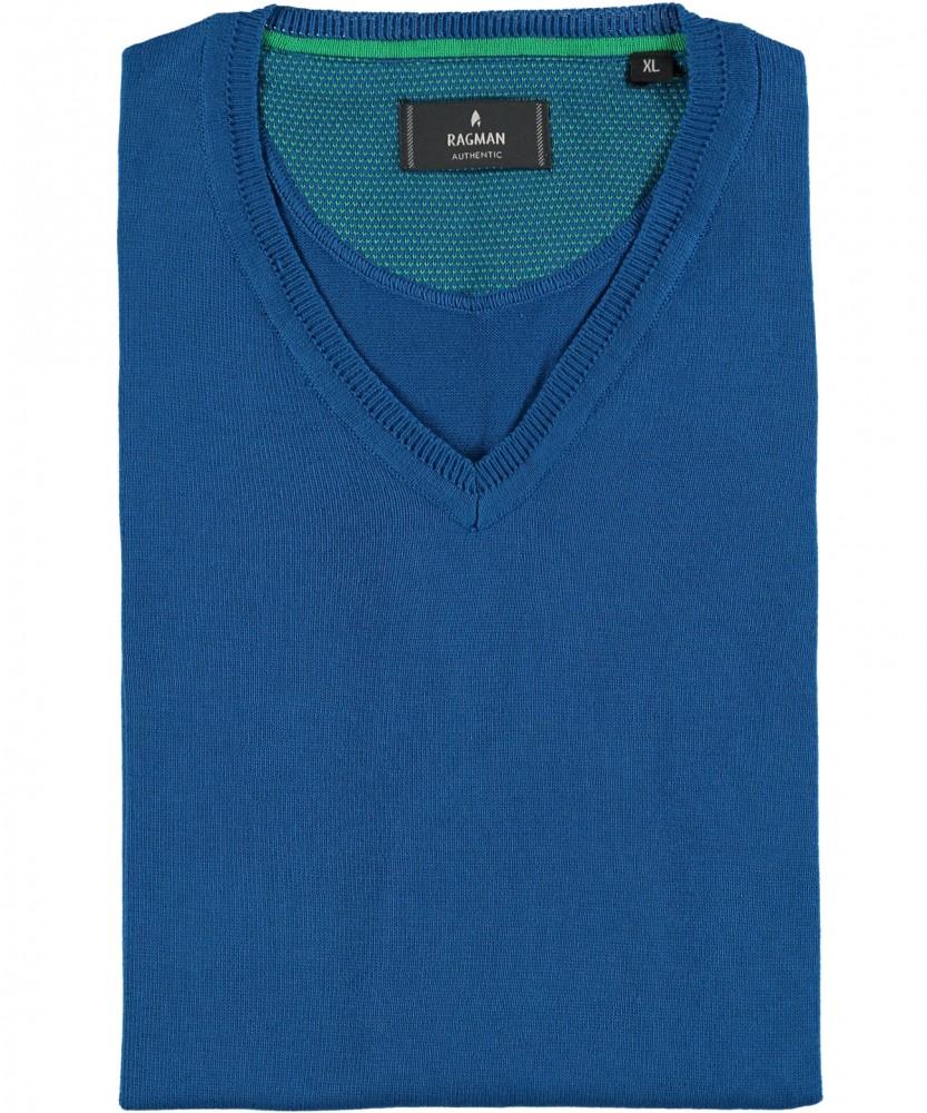 RAGMAN Strick-Pullunder Blau-718 | L