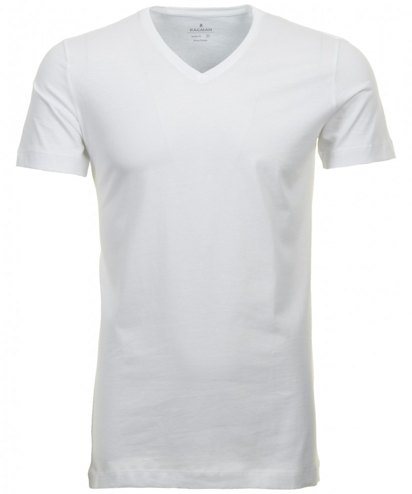 2 T-shirt double pack slimfit with V-neck