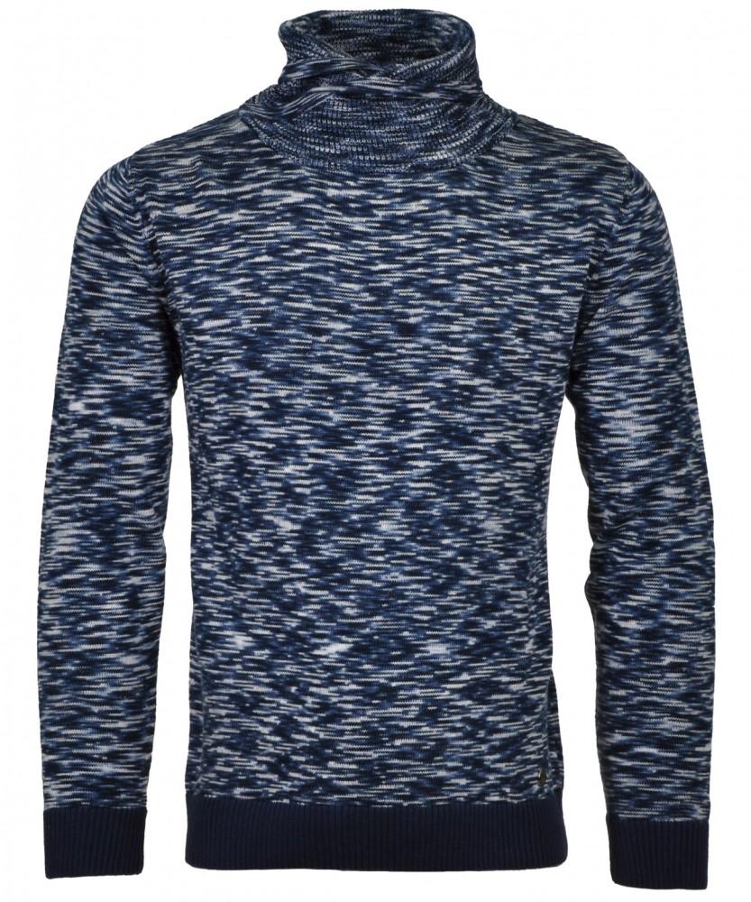 RAGMAN Strick-Pullover mit Kragen Blau gemustert-798   S