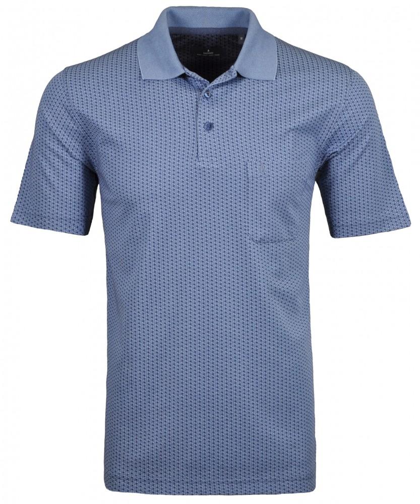 Softknit Jacquard-Poloshirt Jacquard Blau-718 | M