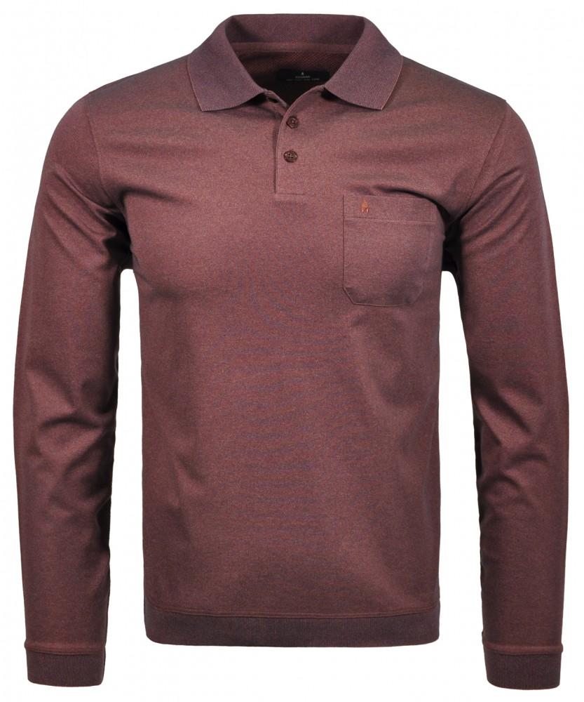 Poloshirt uni Rot-Melange-161 | S