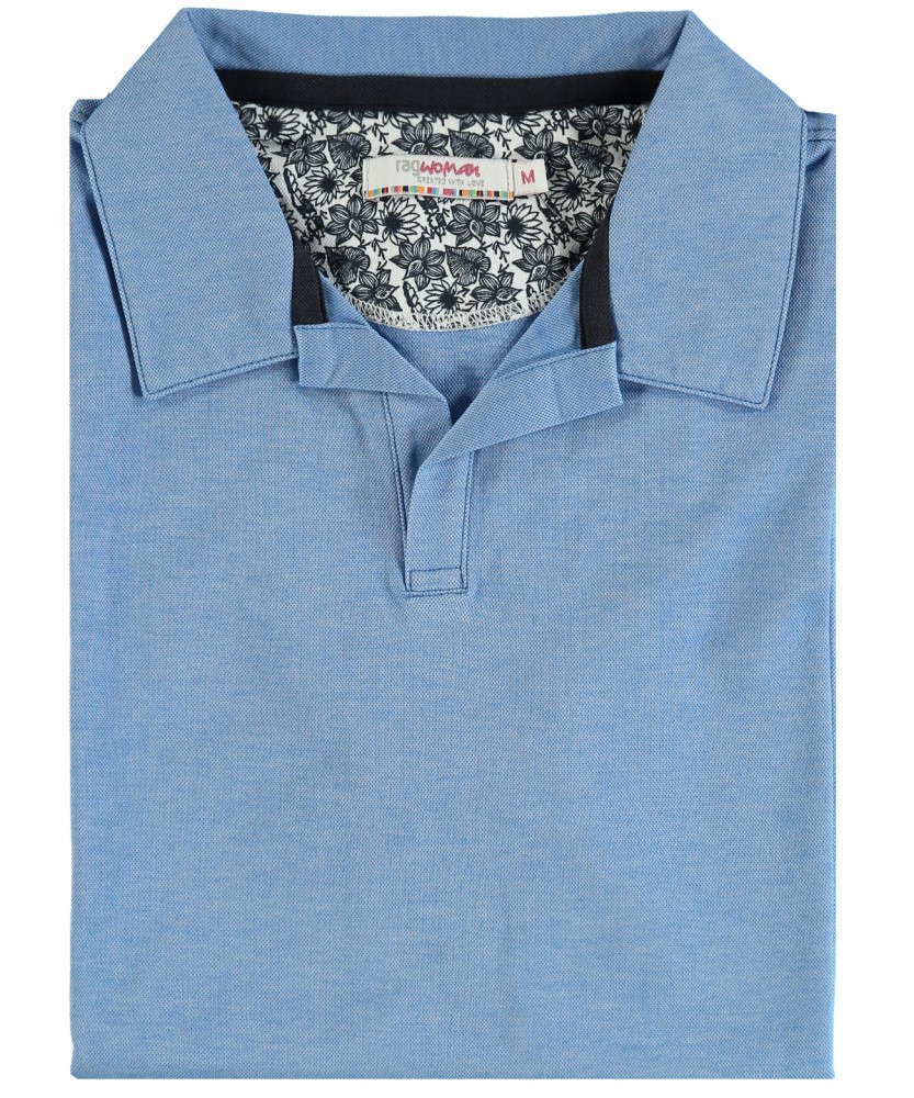 RAGWOMAN Softknit-Polo with open collar