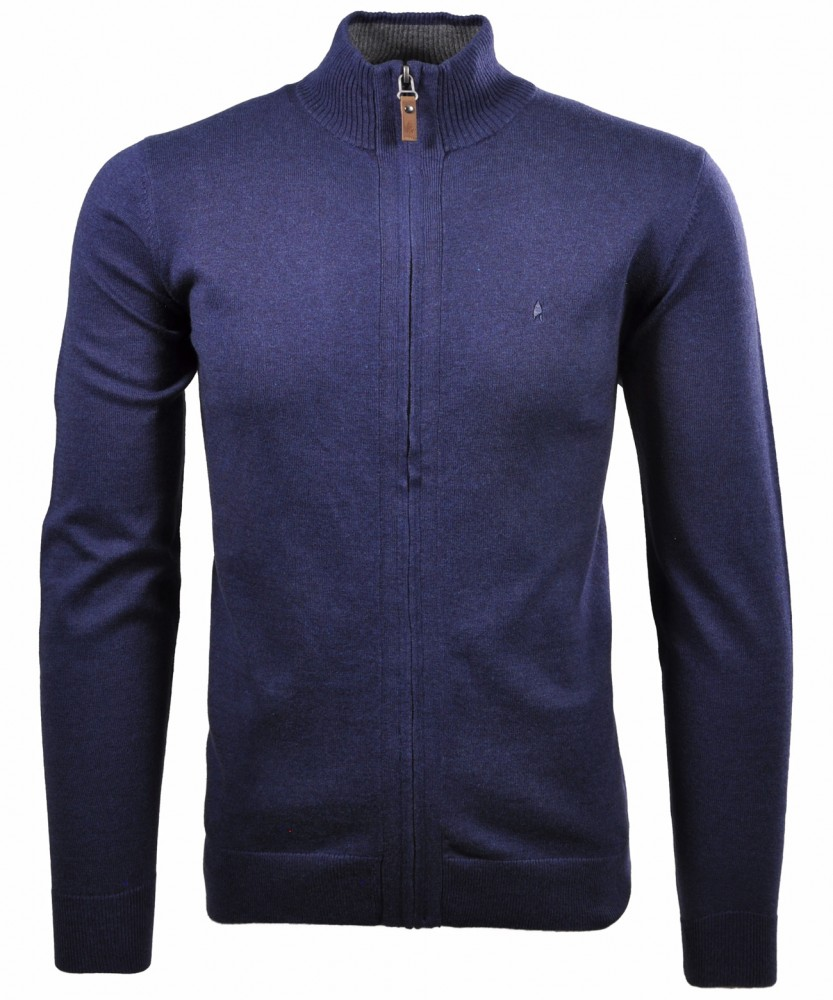 Cardigan with finest Cashmere Navy-070 | S