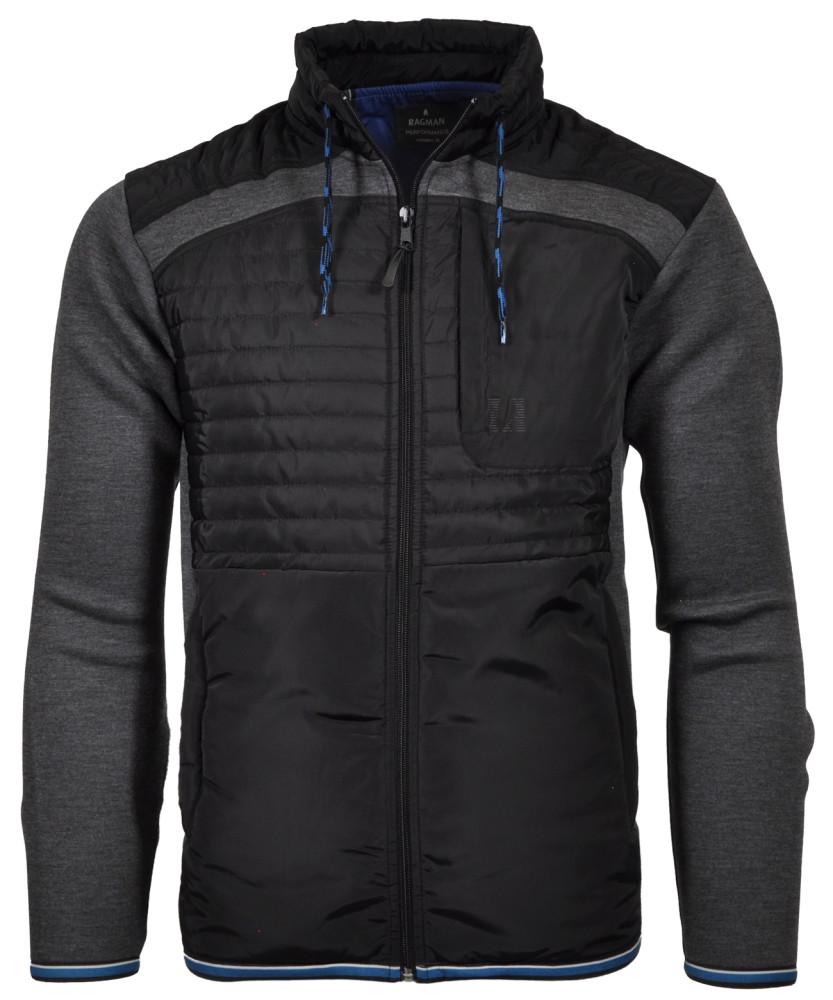 RAGMAN Jacke mit Stehkragen und Zip Anthrazit-019   M