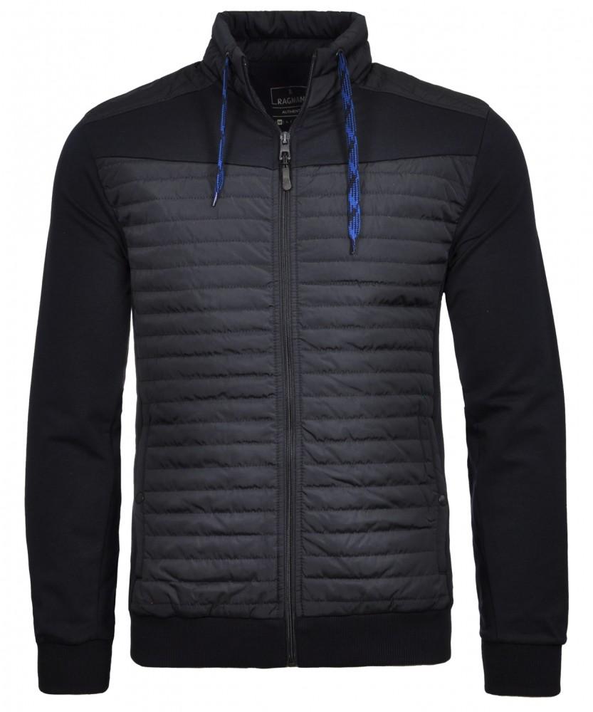Sweatjacket with stand up collar Dark Blue-711 | S