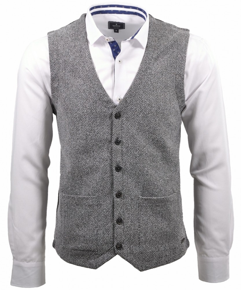 Vest with buttons
