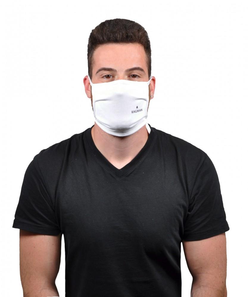 Mund- und Nasenmaske Trevira 5er Pack Weiss-006 | ONE