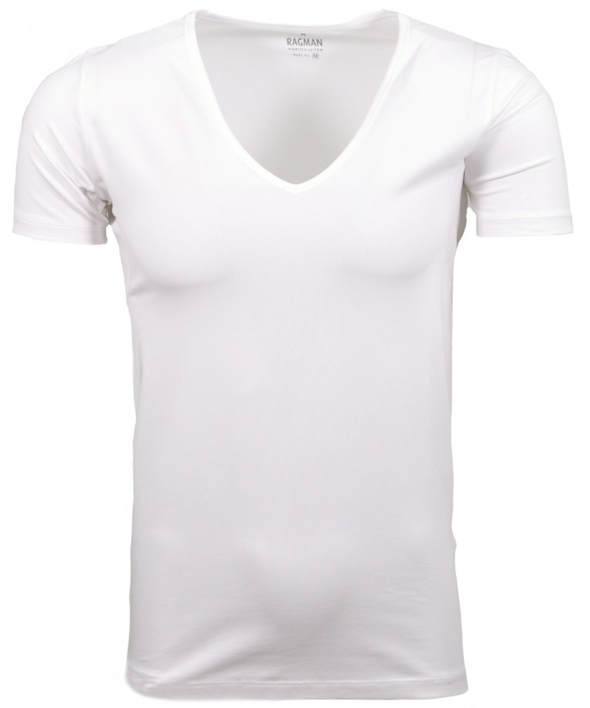Functional T-shirt V-neck Weiss-006 | S