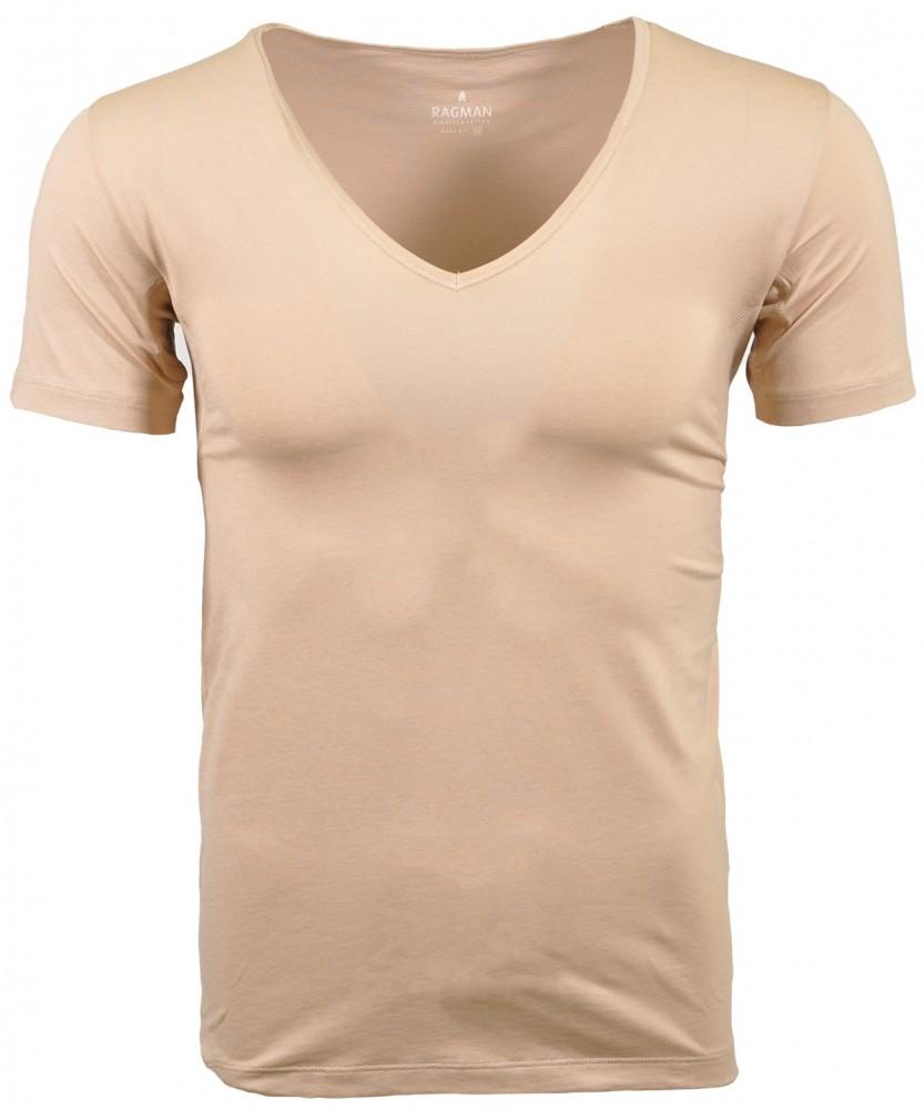 Functional T-shirt V-neck Light Skin-086 | XXL