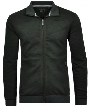 Sweat-Jacket with stand up collar