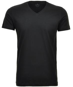 2 T-Shirt Doppelpack Bodyfit mit V-Ausschnitt