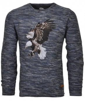 RAGMAN Strick-Pullover mit eagle-Print