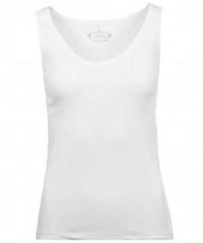 RAGWOMAN Shirt ärmellos, V-Neck, 2x2 Rippe