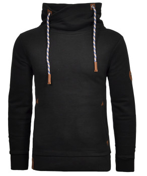 Special collar sweat with pockets