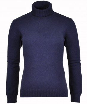 RAGWOMAN Cashmere Sweater with Turtleneck Navy 070 | S