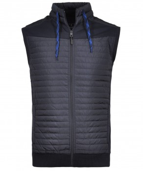 Sweat-Vest with stand up collar