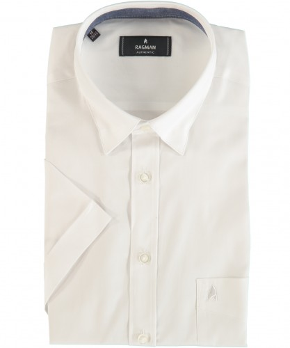 Herrenhemd kurzarm Weiss-006