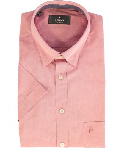Herrenhemd kurzarm Himbeere-465