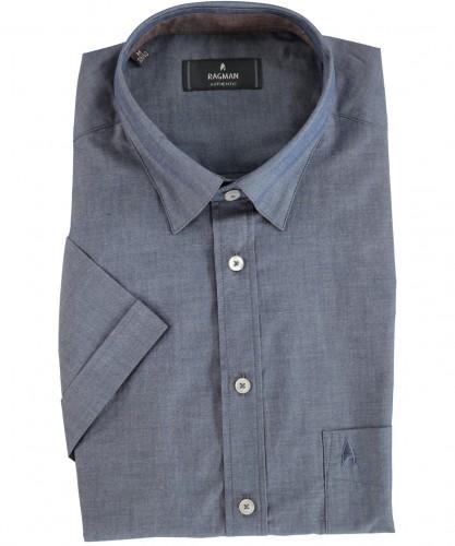 Herrenhemd kurzarm Mitternachtsblau-786