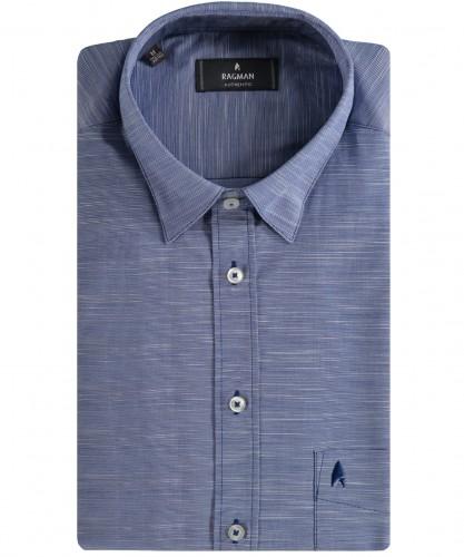 Herrenhemd kurzarm Blau-702