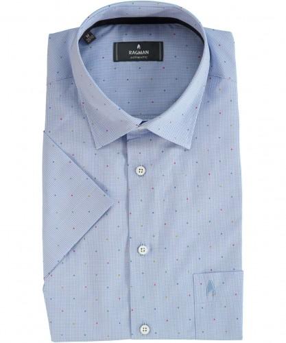 Gepunktetes Kurzarm-Hemd