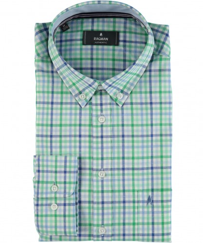 Wovenshirt with Button Down-Collar