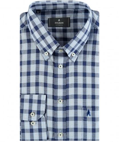 Karo-Hemd mit Button-down-Kragen