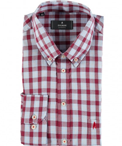 Karo-Hemd mit Button-down-Kragen