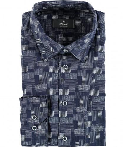 Hemd mit Allover-Dessin, Kent-Kragen