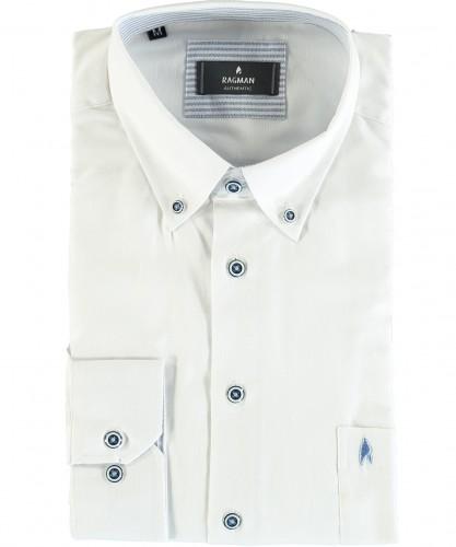 Uni-Hemd Button-down-Kragen