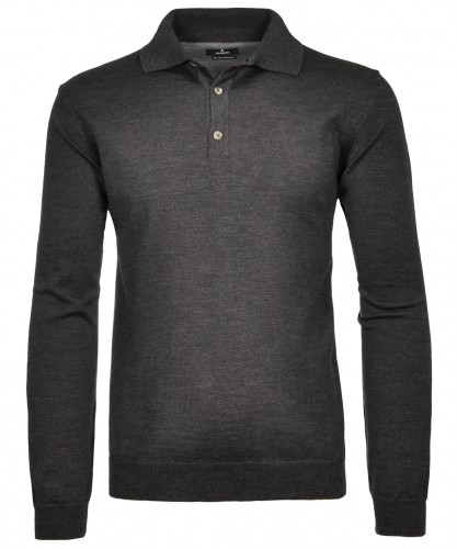 RAGMAN Polo-Sweater merino