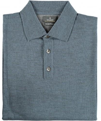 RAGMAN Polo-Sweater merino