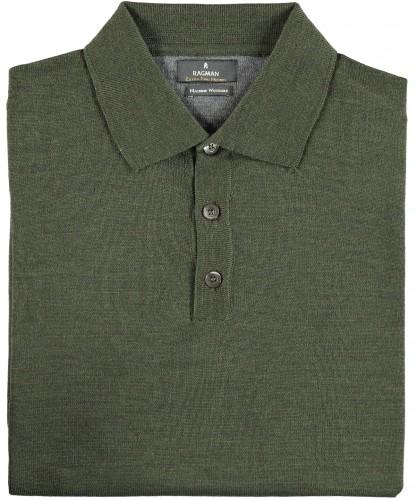 RAGMAN Polo-Pullover Merino