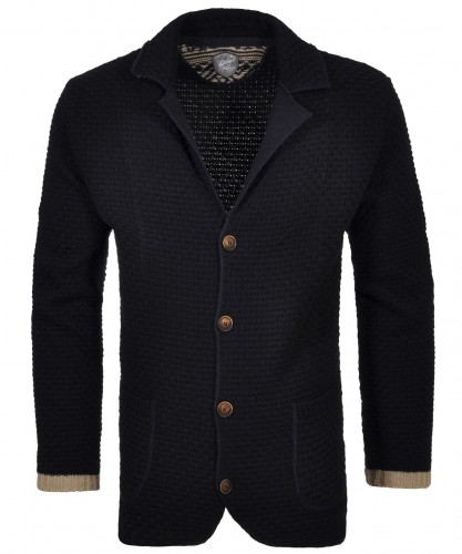 RAGMAN knitted Cardigan with revers collar