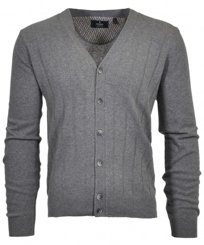 RAGMAN knitted Cardigan with armpatches