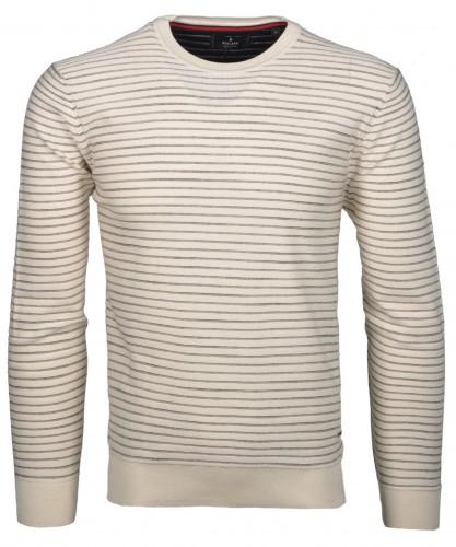RAGMAN Strick-Pullover gestreift mit Rundhals