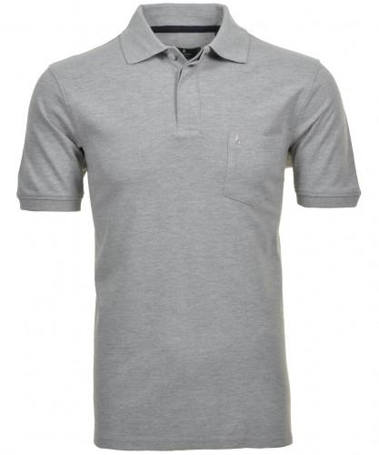 Poloshirt Piqué Grau-Melange-012