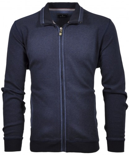 RAGMAN Cardigan with stand up collar and zip